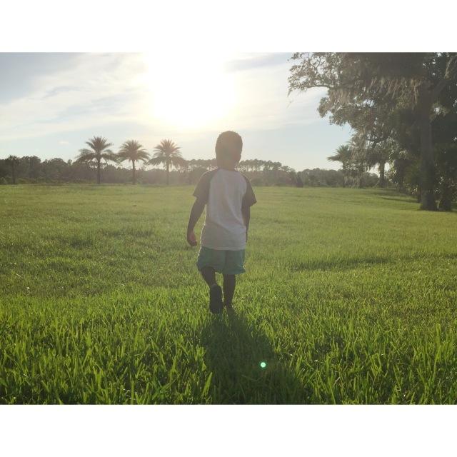Liam Walking Forward